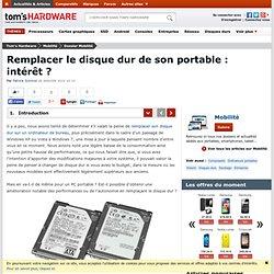 Remplacer le disque dur de son portable intérêt Introduction