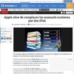 High-Tech : Apple rêve de remplacer les manuels scolaires par des iPad