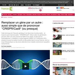 Remplacer un gène par un autre: aussi simple que de prononcer CRISPR/Cas9 (ou presque)