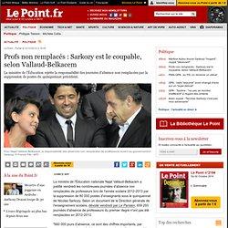 Profs non remplacés : Sarkozy est le coupable, selon Vallaud-Belkacem