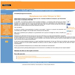Remplacez-moi cette TVA par la TVE ! - 30/10/2009