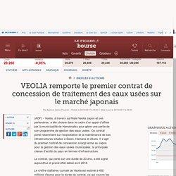 VEOLIA remporte le premier contrat de concession de traitement des eaux usées sur le marché japonais