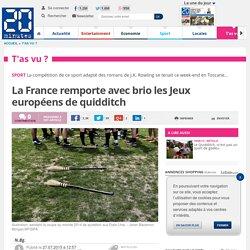 20 MINUTES - La France remporte avec brio les Jeux européens de quidditch