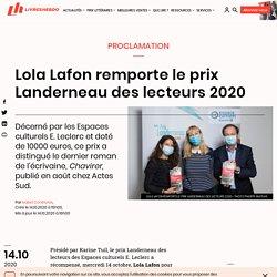 Lola Lafon remporte le prix Landerneau des lecteurs 2020