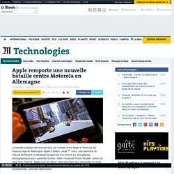 Apple remporte une nouvelle bataille contre Motorola en Allemagne