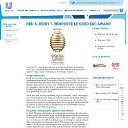 Ben & Jerry's remporte le Good Egg Award