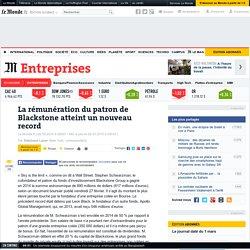 La rémunération du patron de Blackstone atteint un nouveau record