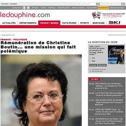 Rémunération de Christine Boutin... une mission qui fait polémique