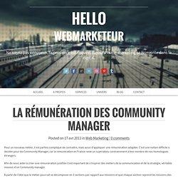 La rémunération des Community Manager