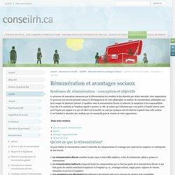 Systémes de rémunération : conception et objectifs