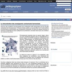 évaluation et rénumération des enseignants contractuels_café pédagogique