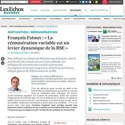 François Fatoux : « La rémunération variable est un levier dynamique de la RSE »