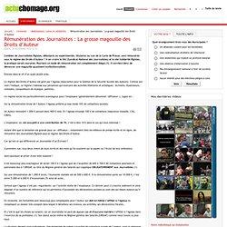 Rémunération des Journalistes : La grosse magouille des Droits d'Auteur