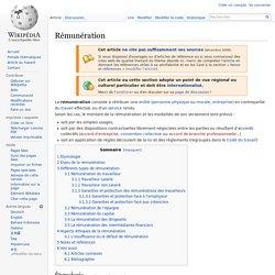 Rémunération wiki