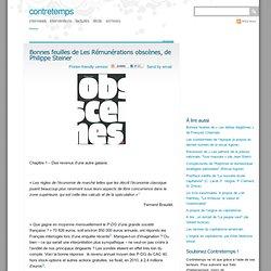 Bonnes feuilles de Les Rémunérations obscènes, de Philippe Steiner