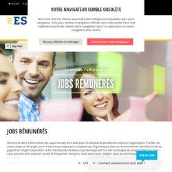 Jobs rémunérés pour étudiants à l'étranger – ESL séjours linguistiques