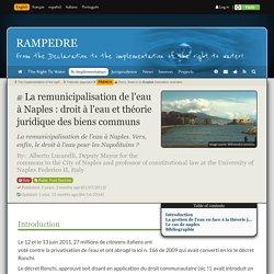 La remunicipalisation de l'eau à Naples : droit à l'eau et théorie juridique des biens communs
