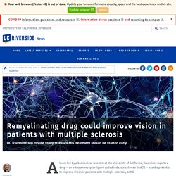 Remyelinating drug could improve vision in patients with multiple sclerosis