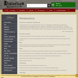 Renæssance - Historicum