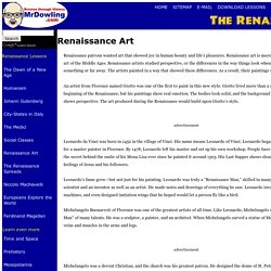 Renaissance Art - History for kids