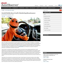Social Media Keys Ford's Marketing Renaissance - AutoObserver