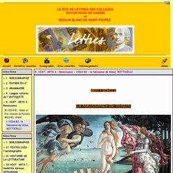 site du collège Victor Hugo de Gassin et du collège du Moulin Blanc de Saint-Tropez - 5. HIST. ARTS 3 : Renaissance - HIDA R2 : la Naissance de Vénus, BOTTICELLI