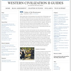 Culture of the Renaissance : Western Civilization II Guides