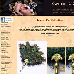 Sapphire & Sage - Renaissance & Medieval Feather Fans Collection