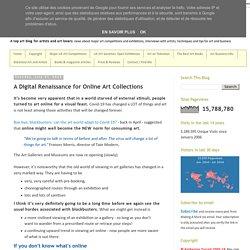 A Digital Renaissance for Online Art Collections