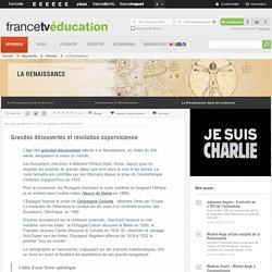 La Renaissance - Grandes découvertes et révolution copernicienne - ...