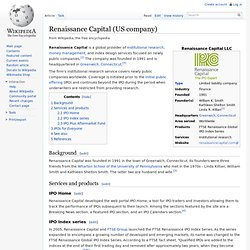 Renaissance Capital (US company)