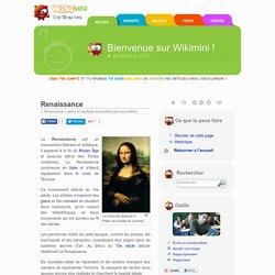 Renaissance — Wikimini, l'encyclopédie pour enfants
