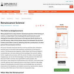 Renaissance Science - The Path to Enlightenment