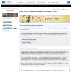 Humanism - Rome Reborn: The Vatican Library & Renaissance Culture