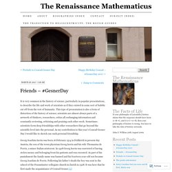 The Renaissance Mathematicus