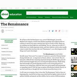 The Renaissance Art Period - About.com Art History