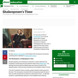 The Influence of the Renaissance in Shakespeare's Time