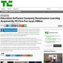 Education Software Company Renaissance Learning Acquired By PE Firm For $440 Million
