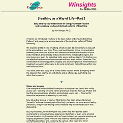 "Winsights, No. 29 (page 1 of 4), ""Breathing as a way of life"