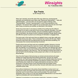 "Winsights, Part 71, ""Eye Tracks"" (December 2003)"