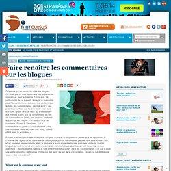 Faire renaître les commentaires sur les blogues