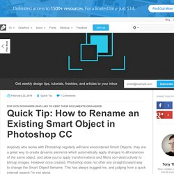 Quick Tip: How to Rename an Existing Smart Object in Photoshop CC