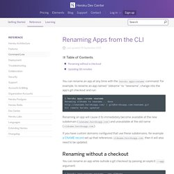 Renaming Apps from the CLI