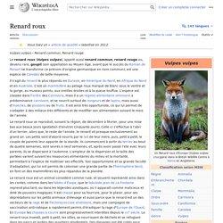 WIKIPEDIA – Renard roux.