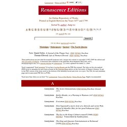 Renascence Editions
