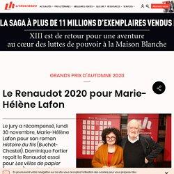 Le Renaudot 2020 pour Marie-Hélène Lafon...