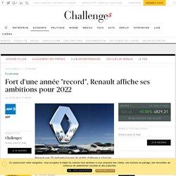 """Fort d'une année """"record"""", Renault affiche ses ambitions pour 2022 - Challenges.fr"""