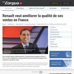 Renault veut améliorer la qualité de ses ventes en France – L'argus PRO