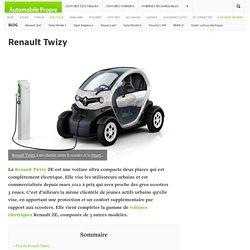 Renault Twizy : prix, autonomie et fiche technique