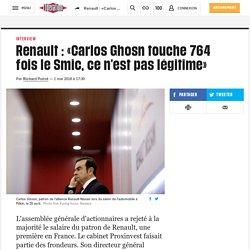 Renault : «Carlos Ghosn touche 764 fois le Smic, ce n'est pas légitime»